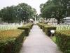 St. Augustine National Cemetery walkway to the Seminole Wars memorials